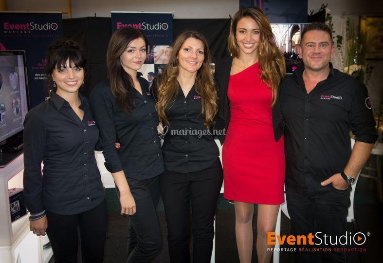 L'équipe avec Miss France