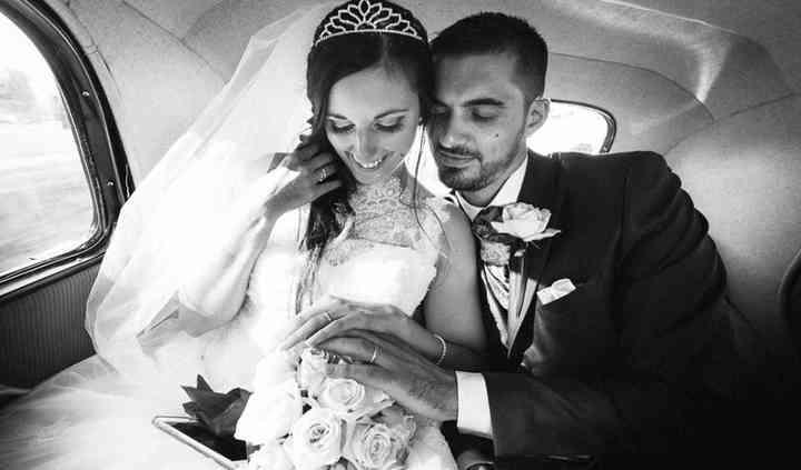 Mariés dans leur voiture