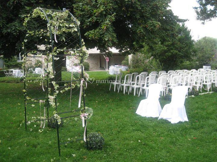 Arche cérémonie jardin