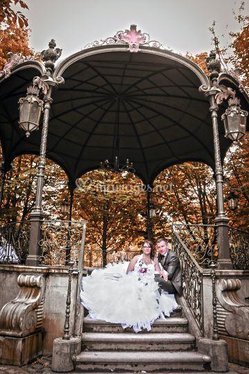 Photo de couple au parc