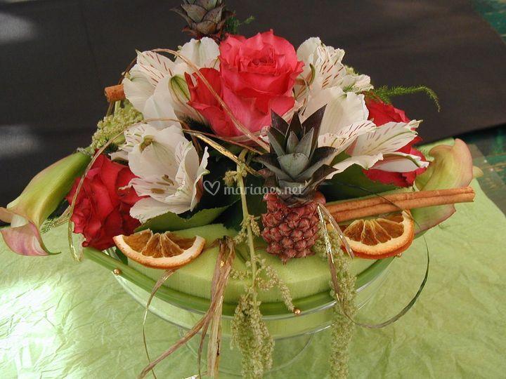 Fleurs et fruits exotiques