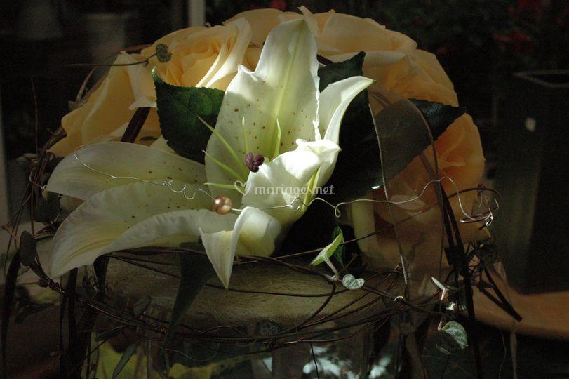 Bouquet de marié détail
