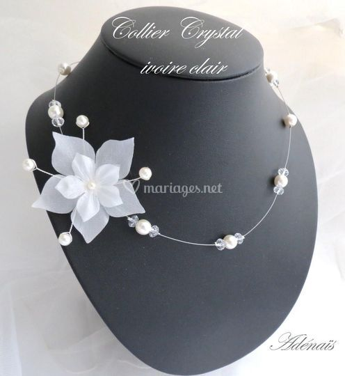 Collier Crystal ivoire clair