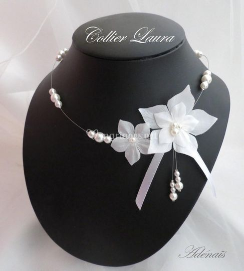 Collier Laura blanc -