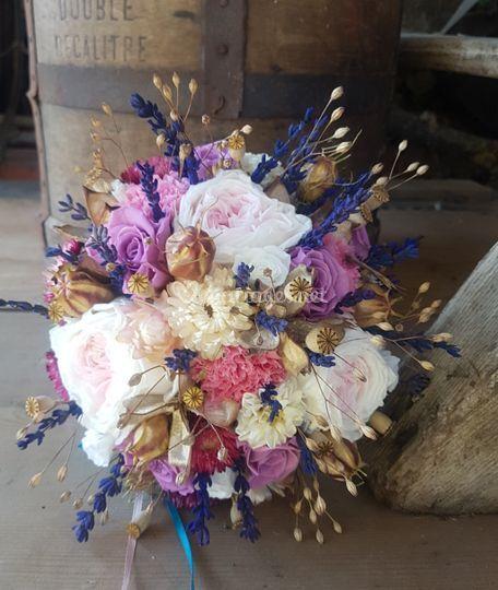 Bouquet de mariée stabiliser