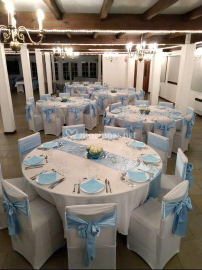 Mariage blanc et bleu