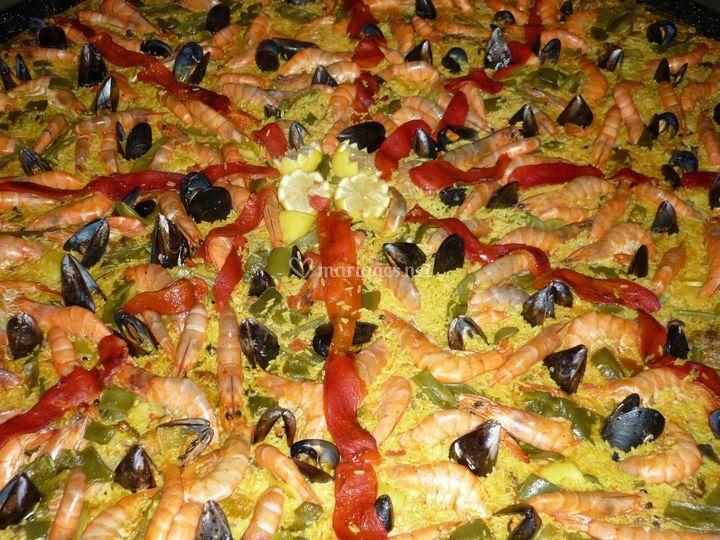 Paella fruit de mer