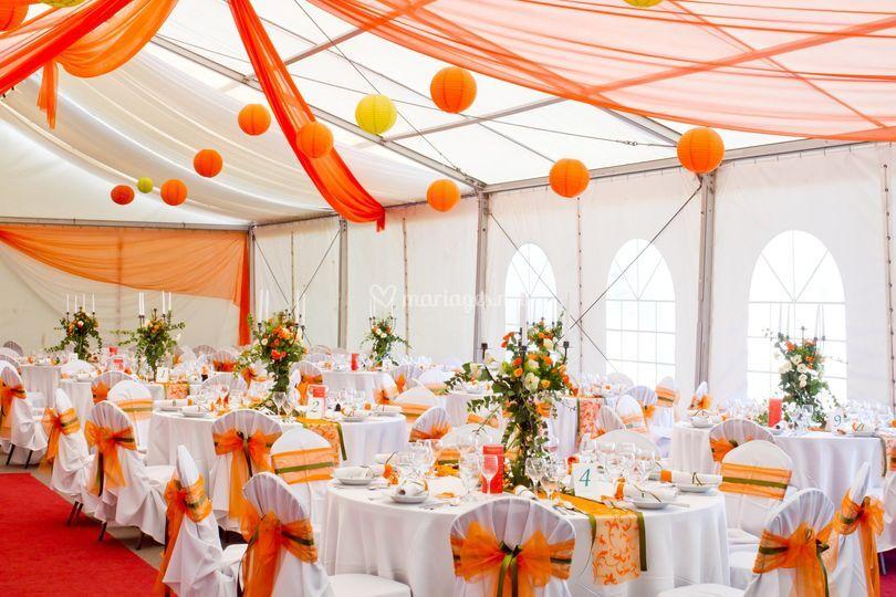Theme orange et blanc