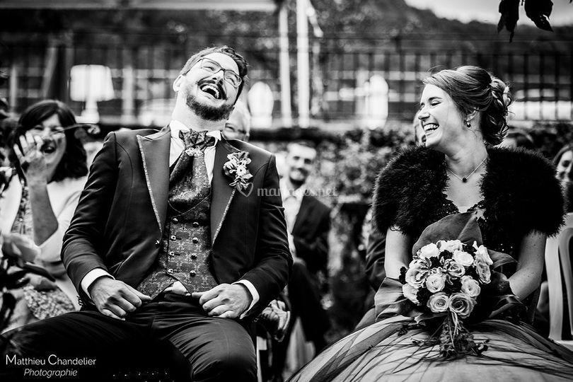 Rires à la cérémonie