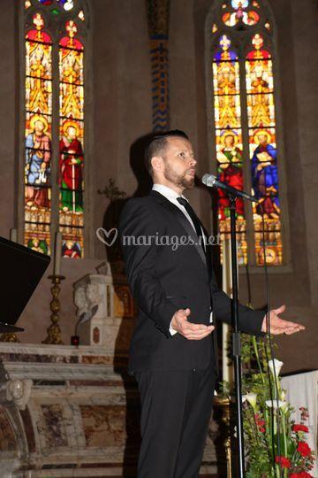 Mise en musique à l'église