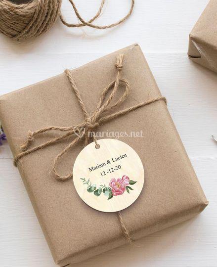 Etiquette personnalisée fleur