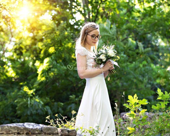 Mariée dans la lumière