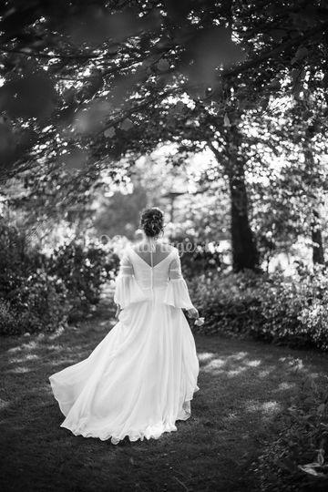 Détails, robe de mariée