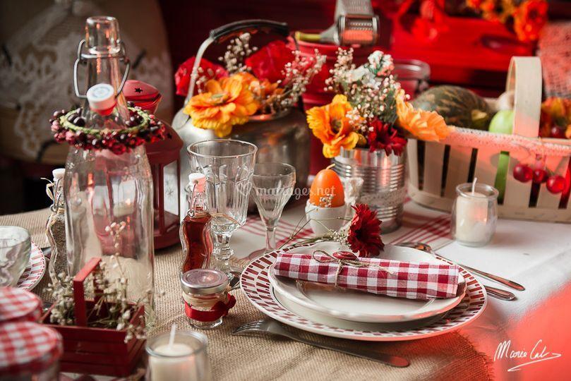 Guinguette rouge champetre