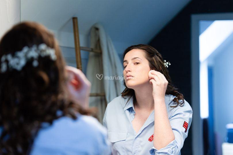 Préparatifs, maquillage