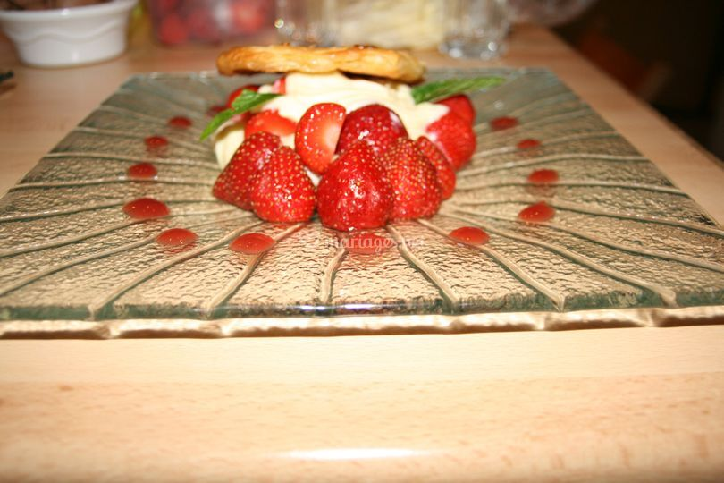 Mille feuille de fraise