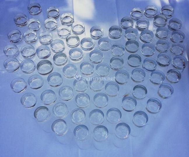 Coeur en verres