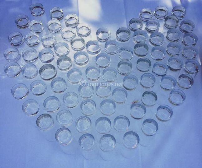 Cœur en verres