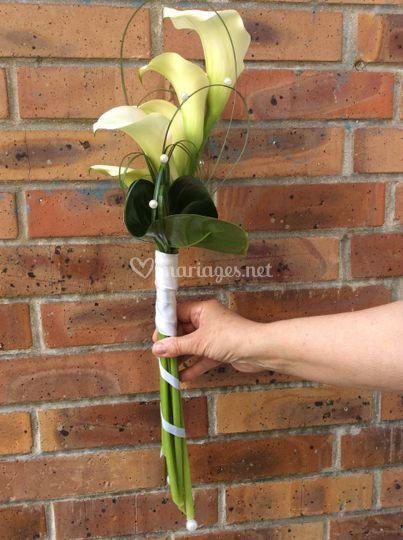 Bouquet d'arum pour la mariée