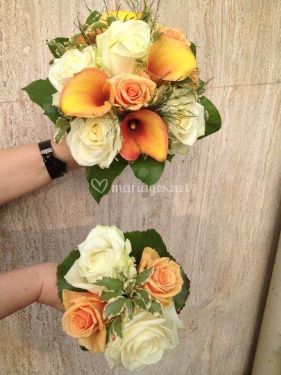 Bouquet de mariée et de demois