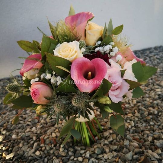 Bouquet de mariée rond