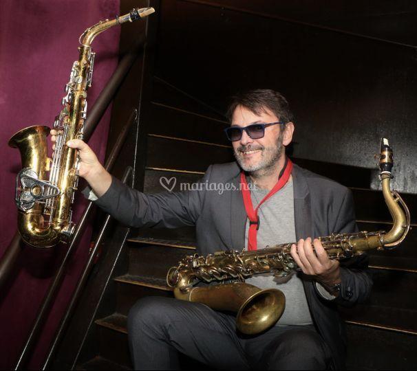 Différents saxophones
