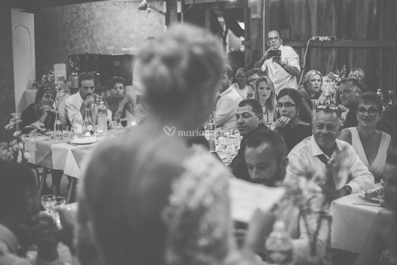 Le discours, vu de la mariée