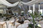 Toile de jute et chandelier
