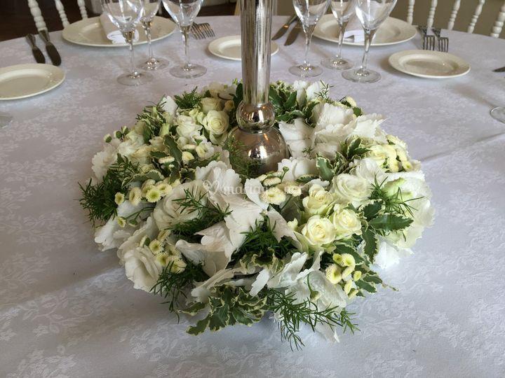 Couronne fleurie chandelier