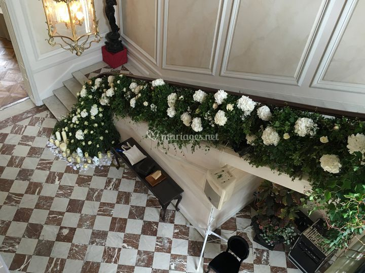 Déco escalier Château Santeny