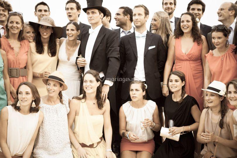 Séance photo de groupe