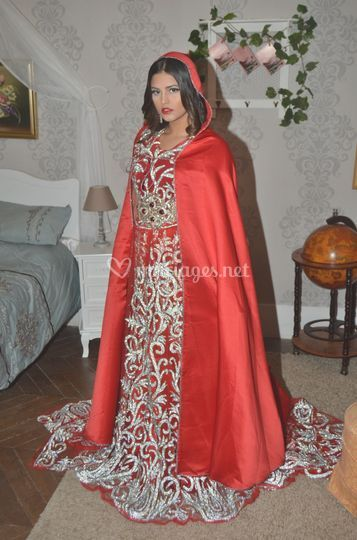 Caftan crystal rouge