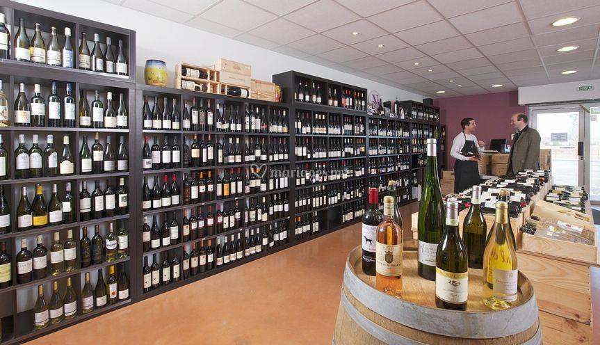 Large sélection de vins