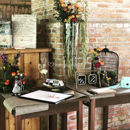 Decoration mariage domaine
