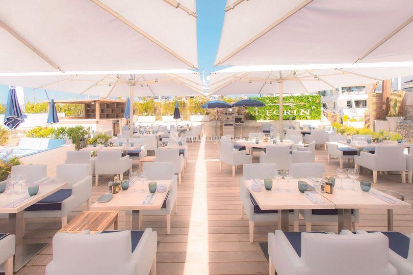 Terrasse Ecrin Plage Cannes