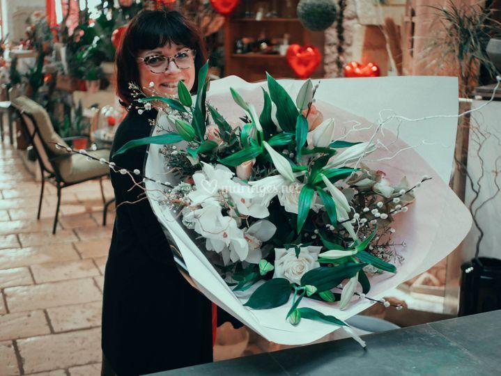 Un joli bouquet blanc