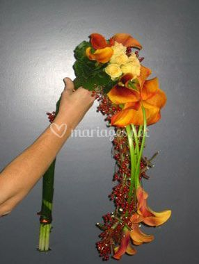 Bouquet long coloré