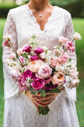 Bouquet de mariée floral