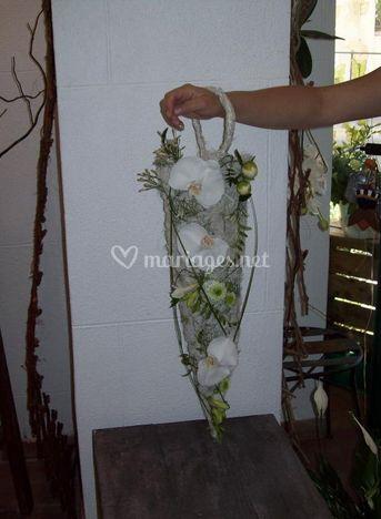 Bouquet de mariée structure