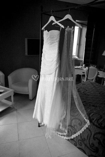 Robe de mariée chambre