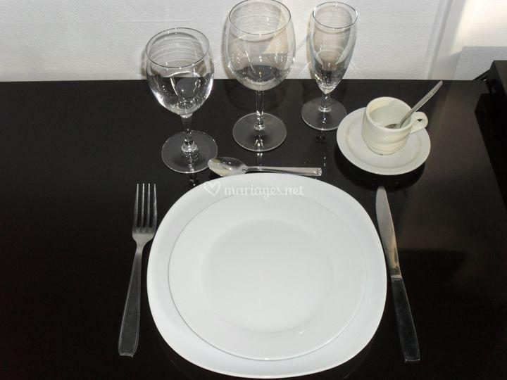 Exemple de présentation vaisselle