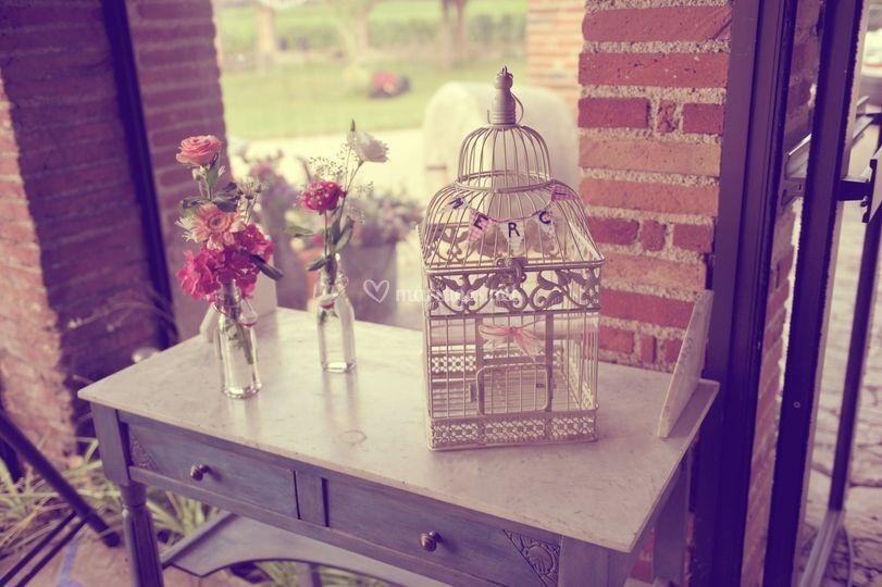 D coration mariage urne de amarys photos for Decoration urne de mariage