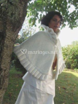 Robe de mariée cape