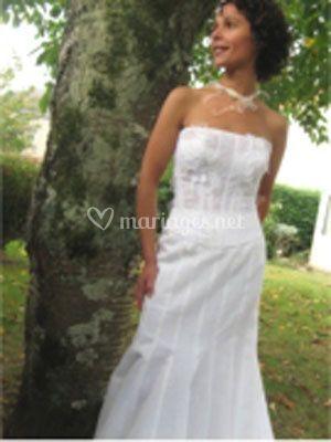 Robe de mariée droite
