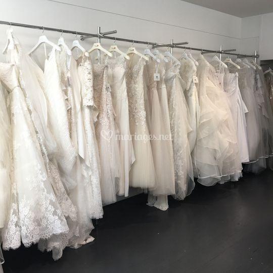 Aperçu rayon robes de mariée