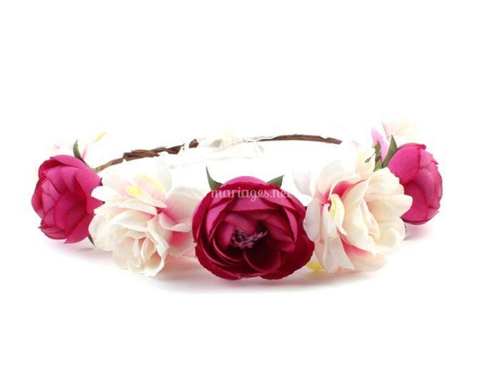 Couronne bicolore rose