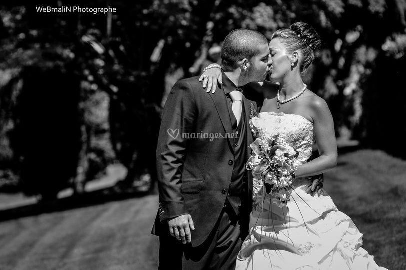 Le fameux bisou des mariés