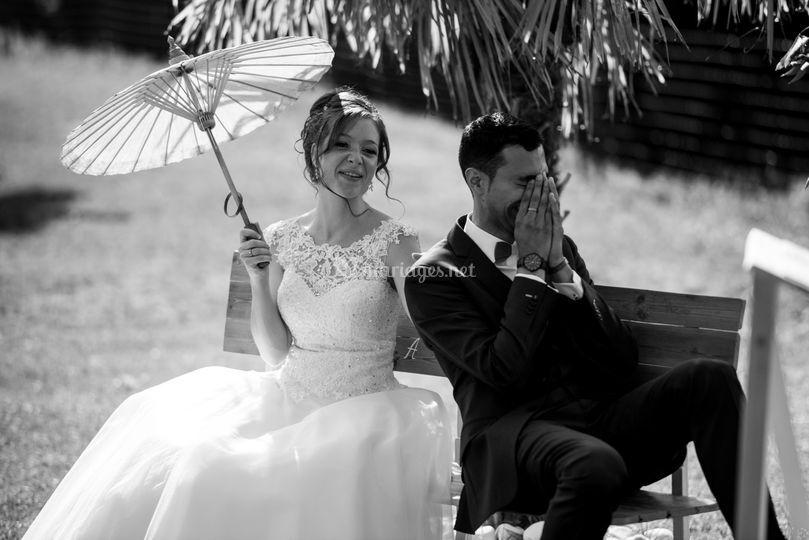 Emotions des mariés cérémonie