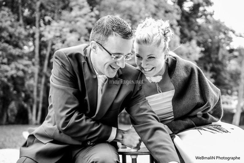 Mariage en noir & blanc