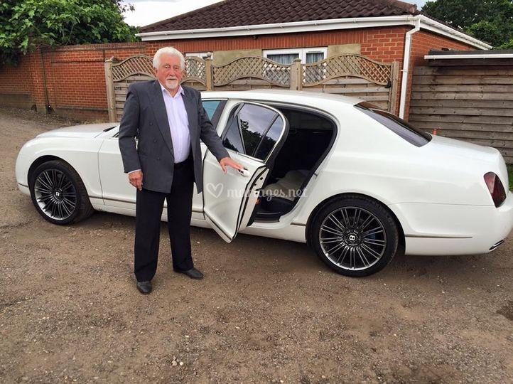 Bentley blanche mariage